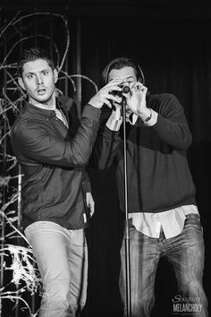 stardustandmelancholy:  Cons of 2014 #21 of ? Jensen Ackles and Jared Padalecki, Salute to Supernatural Burbank 2014 Photography by Stardust and Melancholy