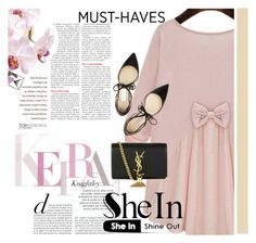 """""""sheinside contest"""" by dressing-is-a-way-of-life ❤ liked on Polyvore featuring Yves Saint Laurent and Jimmy Choo"""