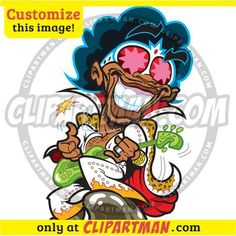 Funky Bass Player cartoon clipart - Clipartman.com