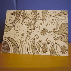 Hand Drawn Card Greetings Card Note Card by KezylouToo on Etsy, £3.00