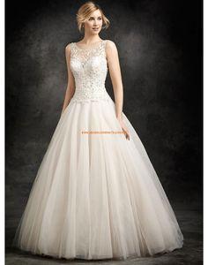 Ella Rosa A-linie Romantische Traumhafte Brautkleider aus Softnetz mit Perlenstickerei