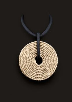 Christian Astuguevieille.  2008.  Unique.  COLLIER black linen and rope chan