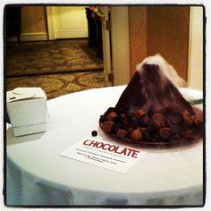 Raw Vegan Chocolate Volcano made for a fundraiser last winter.