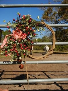 Country Christmas Cowboy Wreath