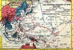 Map: War in the Pacific 1941-1945