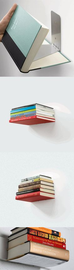 Estanterías invisibles para libros / Goods Home Design