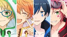 Cute Anime Boy, Anime Guys, Fanart, Boy Drawing, Comedy Anime, Ensemble Stars, Manga Boy, Game Design, Anime Art