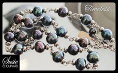 Modern Black freshwater  Pearl 18 Necklace & by SusieCJewelry