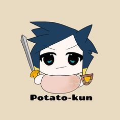 POTATO-KUN Sonic The Hedgehog, Avatar, Chibi, Potato, Pikachu, Fanart, Kawaii, Fictional Characters, Potatoes