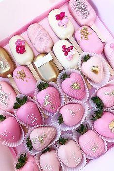 45 Creative Non-Traditional Wedding Dessert Ideas ❤ non traditional wedding dessert ideas covered strawberry pink #weddingforward #wedding #bride