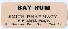Click above to enlarge images Here are three wonderful old apothecary or pharmacy labels! All three of the labels are from the same pharmacy in York, Pa but each one is different. One of the labels is for Bay Rum, one for extract of Lemon and one for Essence of Jamaica Ginger. Come to think...Read More »