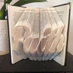 Book folding pattern for Faith