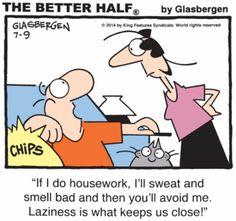 Better Half by Randy Glasbergen - July 09, 2014 | Comics | Comics Kingdom - Comic Strips, Editorial Cartoons, Sunday Funnies, Jokes