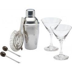 Barcraft Mini Martini Cocktail Set 6pce