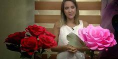 Lembrancinhas e Festas: ROSAS GIGANTES EM PAPEL CREPOM PARA DECORAÇÃO OU F...