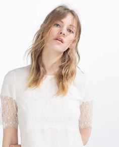 Imagem 1 de BLUSA MANGA RENDA da Zara