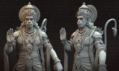 ArtStation - Vijayanjaneya Statue, Harshal Battin