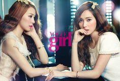"VOGUE girl (Korea) : [포토] 소시 제시카-티파니, ""쌍둥이처럼 똑닮았죠?""  / 아시아투데이 / May 21, 2012 / #Jessica #Tiffany #SNSD"