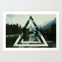 Canadian Triangles Art Print by Froend - $15.00