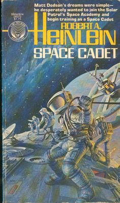 DARRELL K. SWEET - art for Space Cadet by Robert A. Heinlein - 1978 Del Rey / Ballantine Books