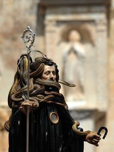 St. Domenico's snake procession in Italy