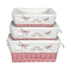 Baskets, cute in pink and stacking  yup