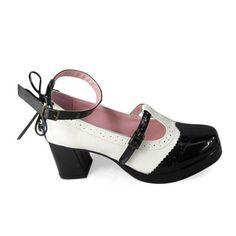 promo code 91ce3 e1890 Black White Dress Shoes for Girls White Dress Shoes, Black And White Shoes,  Black
