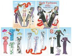 High Fashions of the by Satch LaValley [Satch LaValley Special Edition] : Paper Dolls of Classic Stars, Vintage Fashion and Nostalgic Characters, for Kids and Collectors 40s Fashion, Fashion History, High Fashion, Vintage Fashion, Victorian Paper Dolls, Vintage Paper Dolls, Barbie Paper Dolls, Paper Dolls Book, Barbie Fashion Sketches