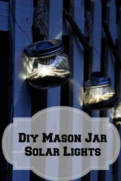 DIY Solar Light Mason Jar Lanterns | eBay
