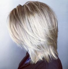 """Mid-Length Blonde Layered Hairstyle Most Universal Modern Shag Haircut Solutions"""", """"Platinum Balayage Shag For a more polished look to your short, s Medium Shaggy Hairstyles, Shaggy Haircuts, Hairstyles Haircuts, Straight Hairstyles, Cool Hairstyles, Mid Length Layered Hairstyles, Blonde Hairstyles, Elegant Hairstyles, Mid Length Haircuts"""