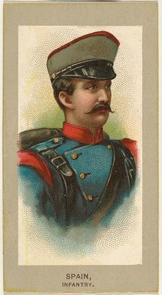 Infantry, Spain, from the Military Uniforms series (T182) issued by Abdul Cigarettes