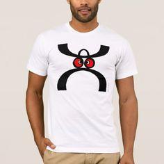 Shop Funny Moustache Hat Face T-Shirt created by StrangeStore. Moustache, Laugh Out Loud, Funny Tshirts, Shirt Designs, Hat, Mens Tops, T Shirt, Creatures, Popular