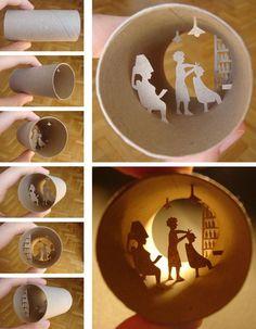Toilet paper art. Weird.  Permanence?