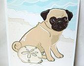 Beach Pug! I want to take my baby to the beach!