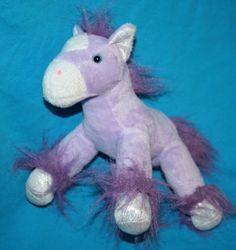 "My Cuddly PONY Princess HORSE 7"" Purple Lavender Soft Toy Plush Stuffed Animal  #PlaymakerToys"