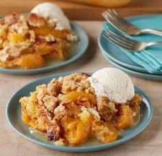 Peach Cobbler Dump Cake. #desserts #cakes #summer