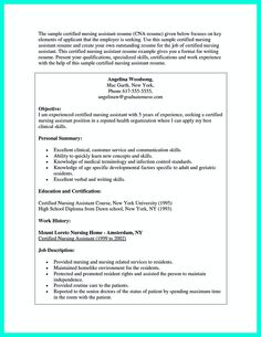 Cna Resume samples   VisualCV resume samples database