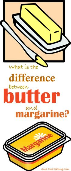 Do you know the process of manufacturing involved in butter and margarine? Find out here and some health info too goodfoodeating.co...