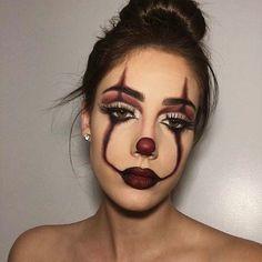 Halloween Makeup Clown, Halloween Looks, Halloween Ideas, Spooky Halloween, Easy Clown Makeup, Scarecrow Makeup, Halloween College, Pennywise Halloween Costume, Halloween Parties