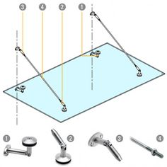 Glass Door Canopy Kit Components