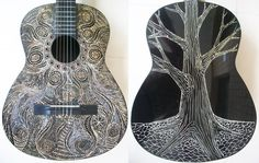 Acoustic Guitar Carved