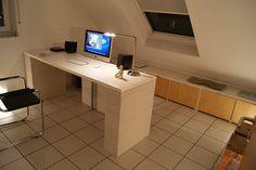 office, workspace, white, minimalist