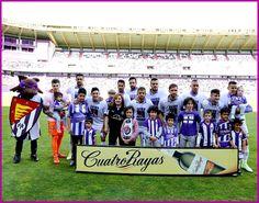 Equipos de fútbol: REAL VALLADOLID contra Numancia 29/04/2017