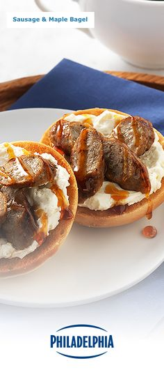 What's better than having all your favourite foods for breakfast? Having them all on one convenient, mini bagel bite! This recipe for our Sausage & Maple Bagel with sweet maple syrup and creamy Whipped Philly is bound to become a brand-new family favourite.