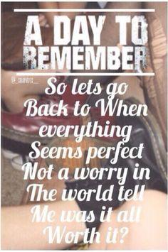 A day to remember lyrics