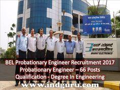 BEL Probationary Engineer Recruitment