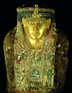 Mummy C found inside Tomb 54 in the Valley of the Golden Mummies in Bahariya Oasis in the Western Desert of Egypt. (Photo: Sandro Vannini)