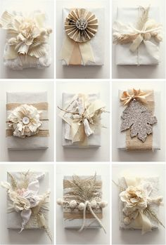who knew butcher paper & fabric scraps could be so beautiful?  via style me pretty by grey likes weddings