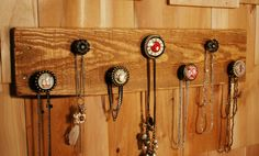 Simply Gorgeous 7 knob Rustic Jewlery Organizer by SplintersAndNails on Etsy, $48.50