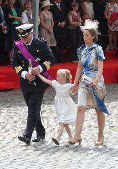 Prince Laurent of Belgium and Princes Claire with their daughter Princess Louise